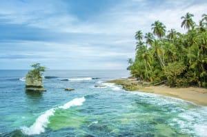 Cahuita sur les Caraibes au Costa Rica Plage