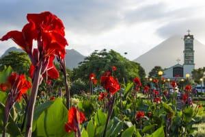 La Fortuna vue sur le volcan