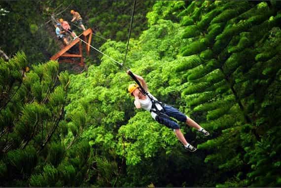 Les activités et sports a pratiquer au Costa Rica : le Canopy ou tyrolienne